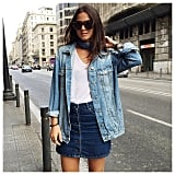 With a Denim Skirt