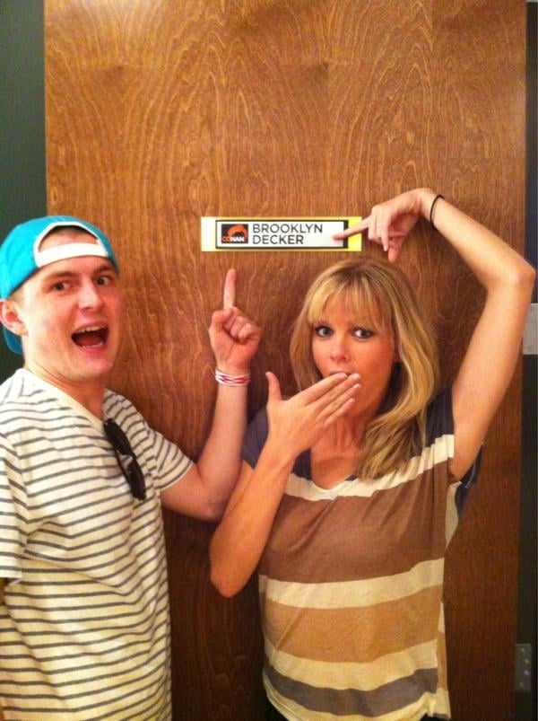 Brooklyn Decker stopped by Conan with her brother in tow.  Source: Twitter user Brooklyn Decker