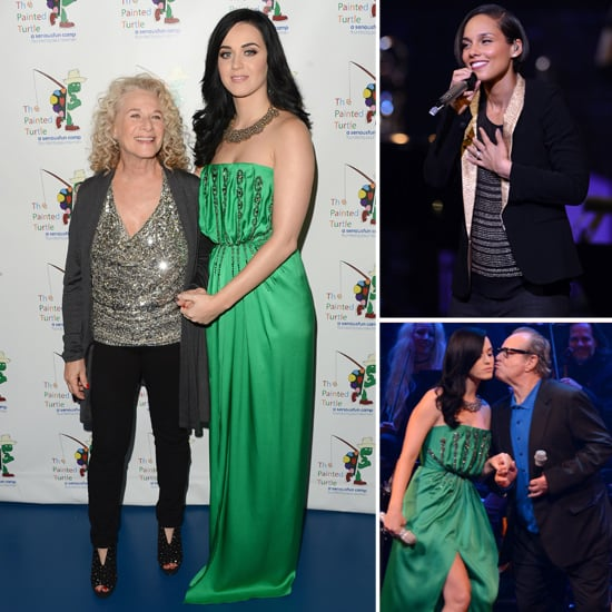 Katy Perry in Green Dress For Paul Newman Charity Dinner