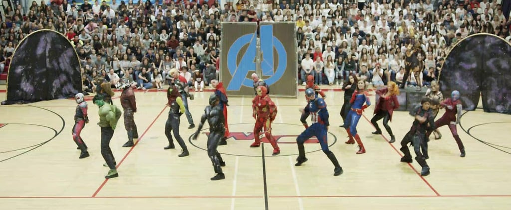 High School Dance Team's Marvel Homecoming Routine