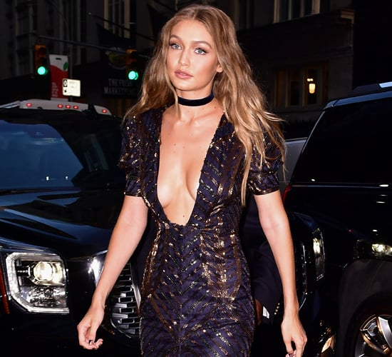 Gigi Hadid Tommy Hilfiger Dress at Fashion Media Awards 2016