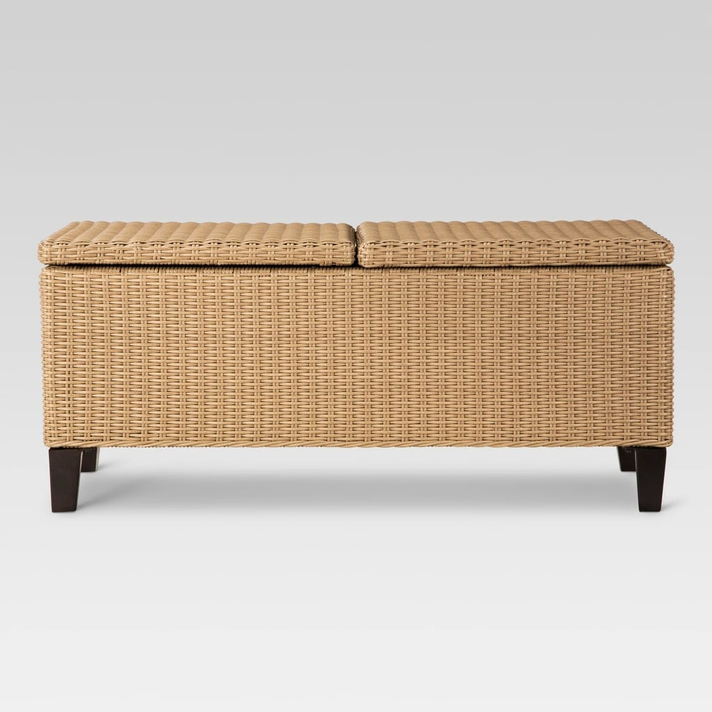 Fullerton Wicker Rectangle Patio Storage Coffee Table
