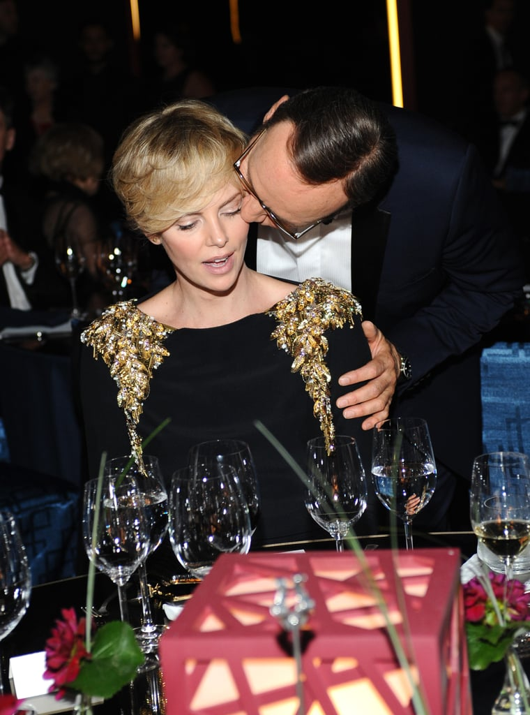 Charlize Theron and Kevin Spacey caught up at the Annenberg Gala.