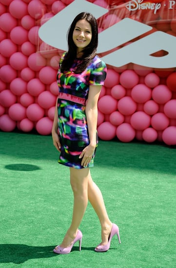 Michelle Monaghan Attends Up Premiere in LA Wearing Neon Peter Som Dress