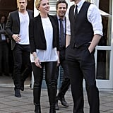 Scarlett Johansson stepped out with Tom Hiddleston, Chris Hemsworth, and Mark Ruffalo.