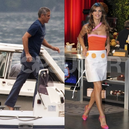 George Clooney's on a Boat While Elisabetta Canalis Gets Down to Work