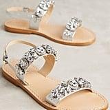 Schutz Mulada Sandals Silver 8 Sandals ($165)
