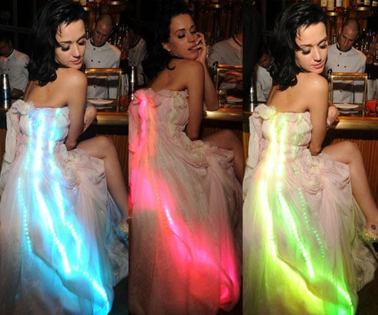 Katy Perry Light Up Dress at 2010 Met's Costume Institute Gala