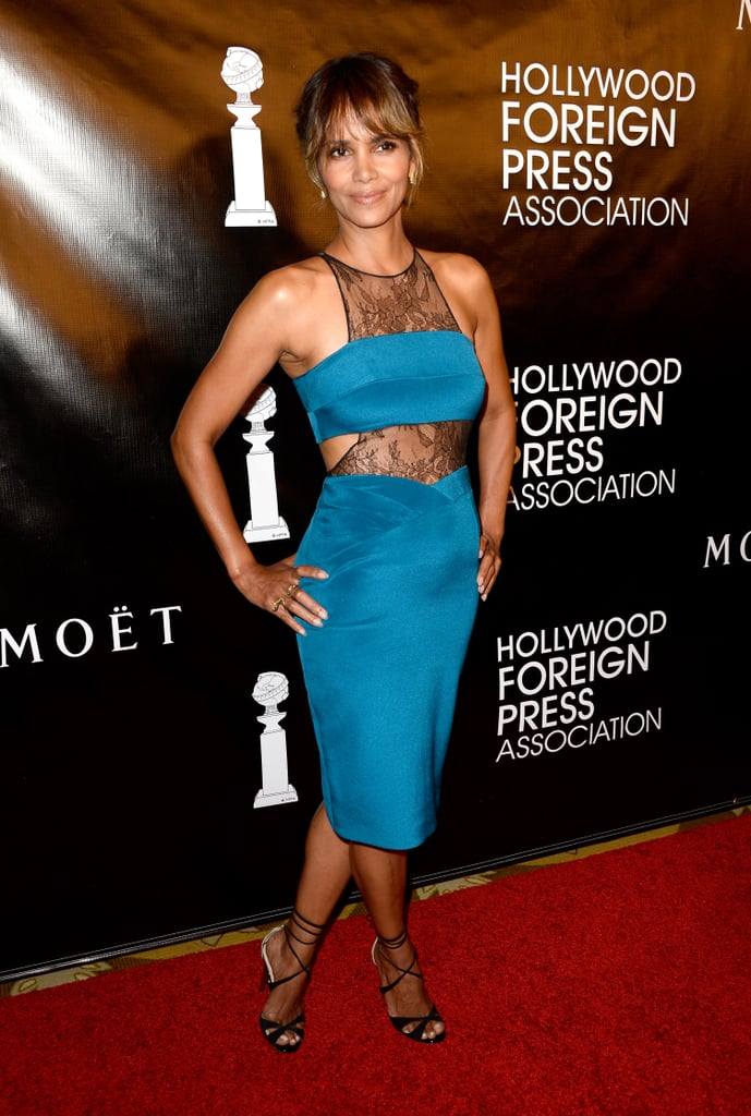 She has no problem showing a little skin on the red carpet, like this cutout number she picked for the Hollywood Foreign Press Association banquet in Aug. 2015.