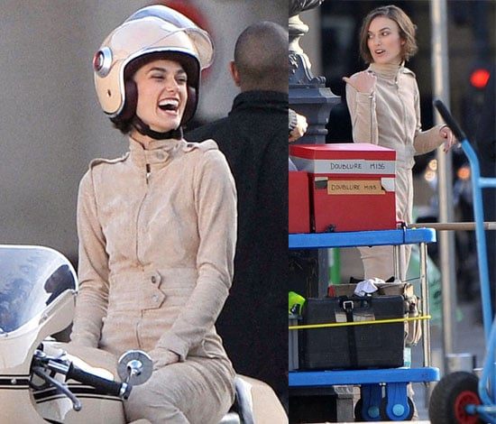 Pictures of Keira Knightley in Paris Filming a Chanel Advert