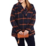 Walmart Classic Plaid Double Breasted Peacoat