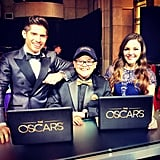 Our fashion reporter Allison McNamara hosted the official Oscars digital backstage show with Rico Rodriguez and Jake Whetter. Source: Instagram user allisonmcnamara
