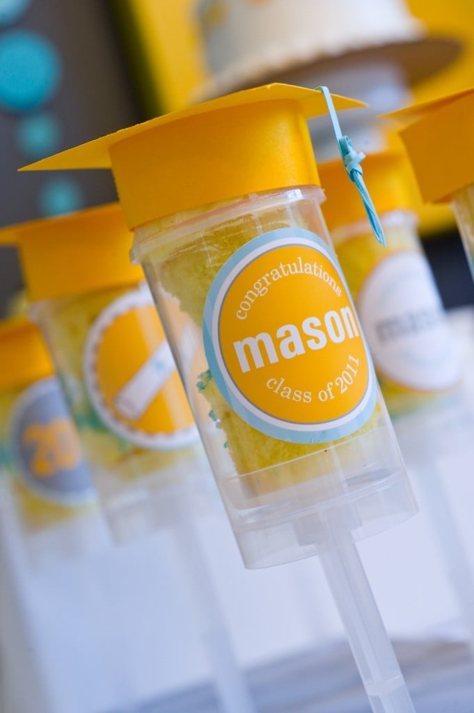 Mortar Board Push Pops