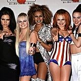 Posh, Baby (hence the baby doll), Scary, Ginger, and Sporty were all in their respective style personalities at the MTV Video Music Awards in 1997.