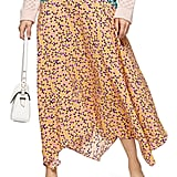 Topshop Thrift Mixed-Floral Midi Skirt