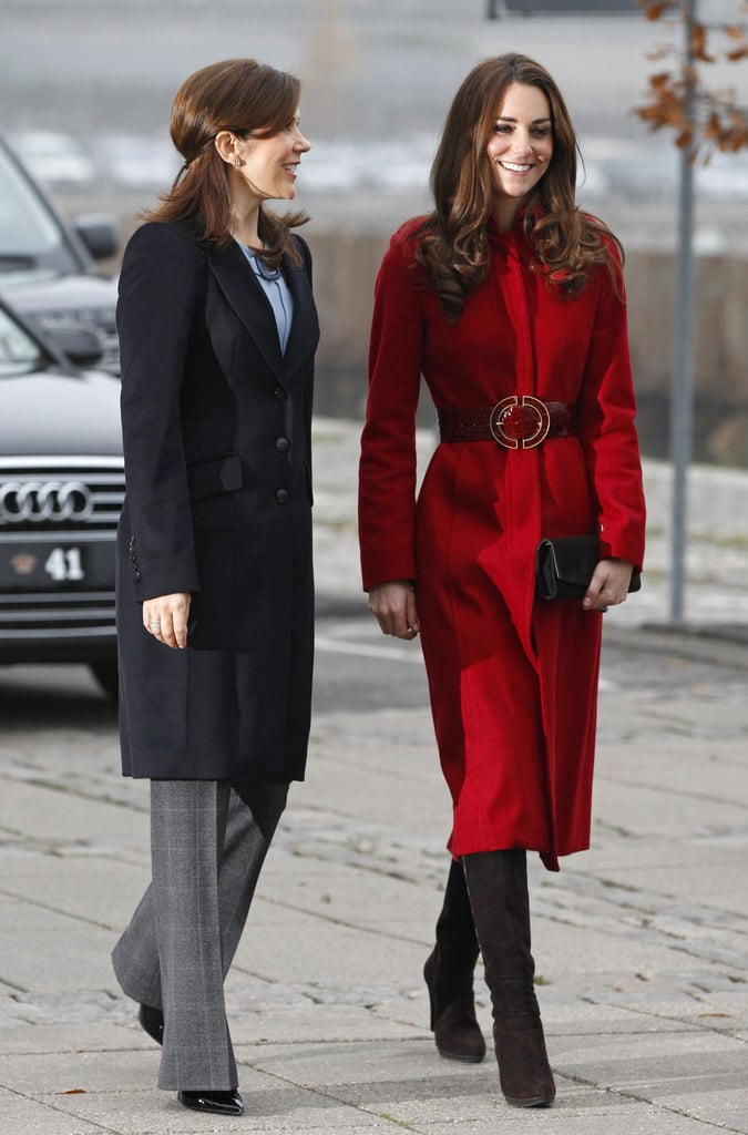 When She Hung Out With Kate in a Polished Ensemble