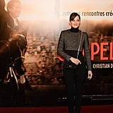 Marion Cotillard stepped out to support her partner, Guillaume Canet, at his Jappeloup premiere in Paris.