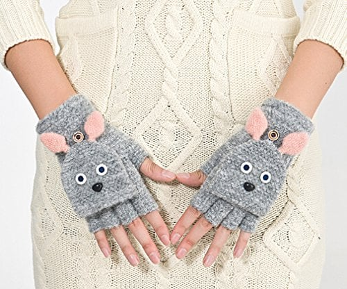 Greenery Rabbit Convertible Gloves
