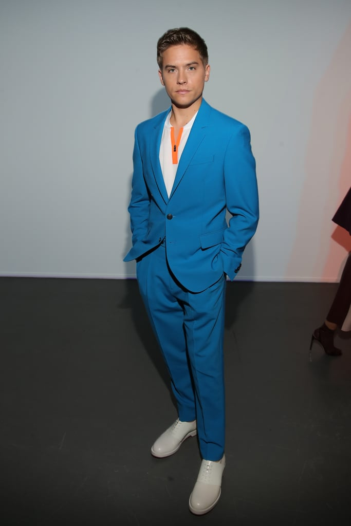 Dylan Sprouse at the Boss Milan Fashion Week Show