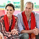 2: Number of countries visited: India and Bhutan.  5: Number of major destinations. The Duke and Duchess swept through Mumbai, New Delhi, Assam, Bhutan, and Agra.  5-6 Approximate number of hours spent hiking in Bhutan.