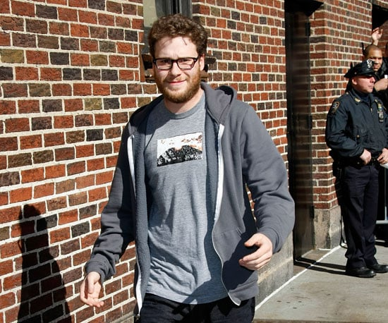 Photo of Seth Rogan Heading Into The Late Show