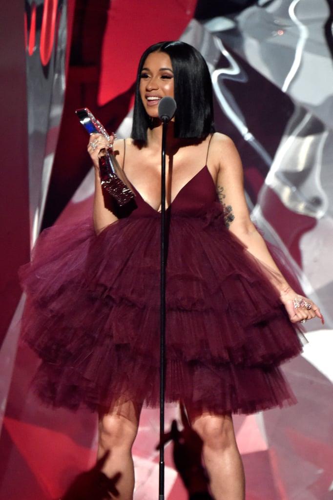 Would You Rock Cardiu0026#39;s Dress? | Cardi Bu0026#39;s Red Dress at iHeartRadio Music Awards 2018 | POPSUGAR ...