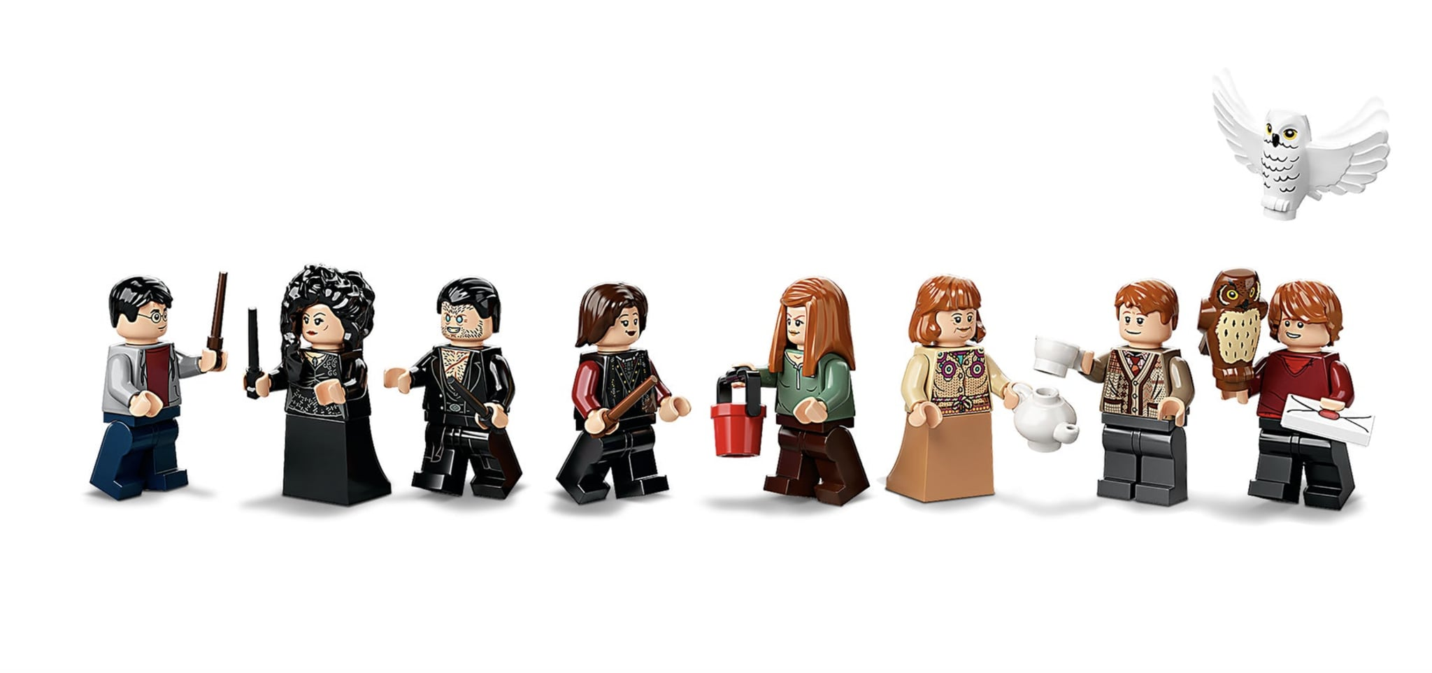 The Minifigures In The Lego Harry Potter Attack On The Burrow Set New Lego Harry Potter Sets 2020 Popsugar Uk Parenting Photo 19