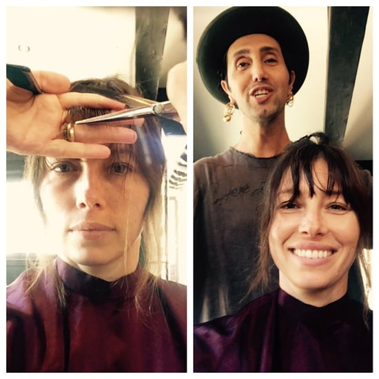 Jessica Biel Cuts Bangs - and They May Inspire You to Book Your Own Chop
