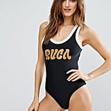 You'll love the throwback vibes this RVCA Neoprene Logo Swimsuit ($109) gives off.