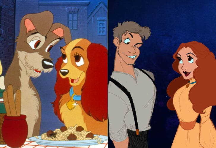 Disney Characters As Humans In Art Popsugar Australia