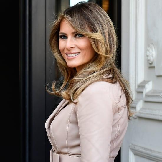 Melania Trump Gray Dolce and Gabbana Coat