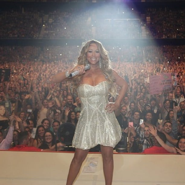 Mariah Carey shared a photo from her Australian tour. Source: Instagram user mariahcarey