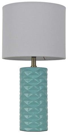Room Essentials Faceted Ceramic Accent Table Lamp