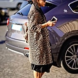 Style Your Leopard-Print Coat With: A Black Dress and Heels