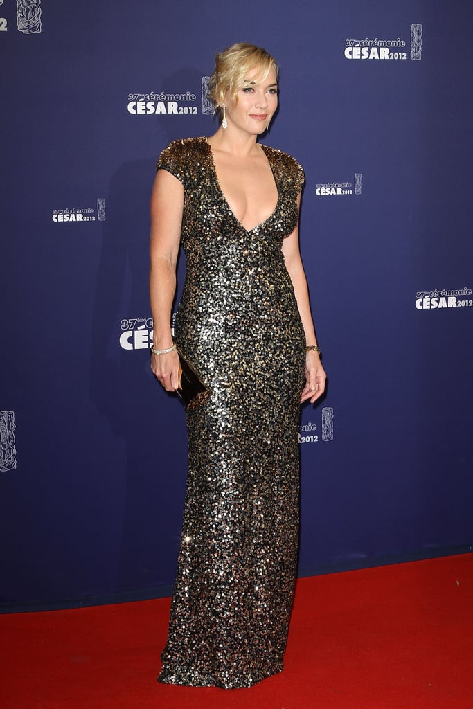 Kate Winslet shined in sparkly Jenny Packham at the César Film Awards.