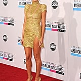 Heidi Klum in a Gold Alexandre Vauthier at the 2012 American Music Awards