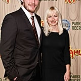 Chris Pratt and Anna Faris in 2009