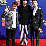 Gaten Matarazzo, Finn Wolfhard, and Noah Schnapp at the 2019 MTV Movie and TV Awards