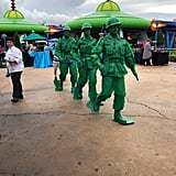 The Green Army Patrol marching through the land.