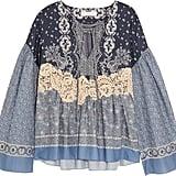 Chloé x Net-A-Porter Lace-appliquéd Printed Cotton-voile Blouse ($1,295)