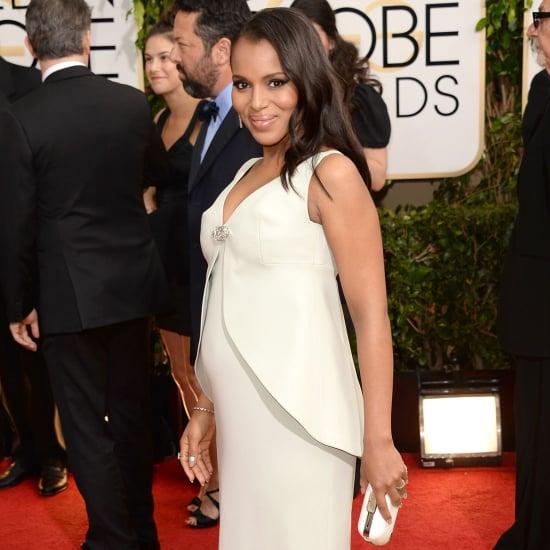 Kerry Washington Dress on Golden Globes 2014 Red Carpet