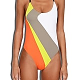 Get creative with graphic patterns in Milly's Cabana Amalfi Colorblock Maillot ($195)