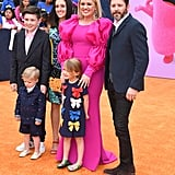 Pictured: Seth Blackstock, Remington Blackstock, Savannah Blackstock, Kelly Clarkson, River Blackstock, and Brandon Blackstock