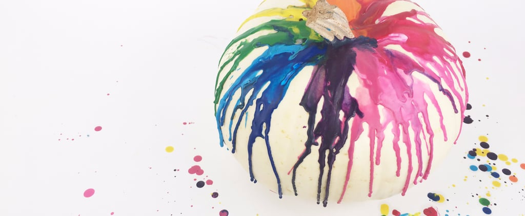 Make Your Halloween Extra Colorful With This Rainbow Pumpkin DIY