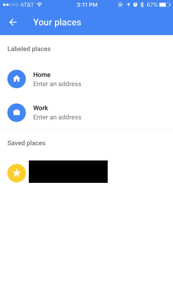 Save your work and home address.