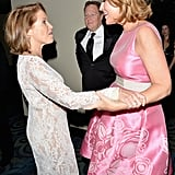 Katie Couric shared a moment with the woman who fills her former seat on Today, anchor Savannah Guthrie.