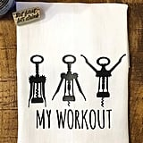 Wine Workout Kitchen Towel