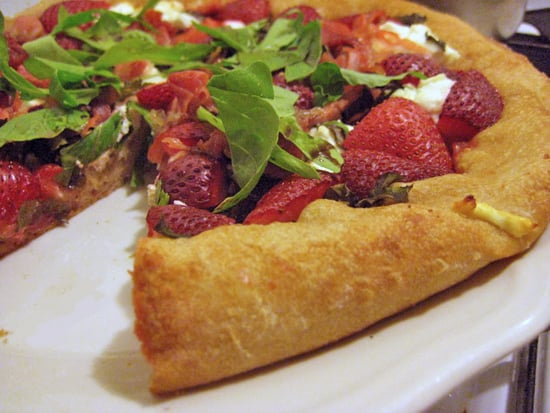 Strawberry Pizza Recipe With Basil and Goat Cheese