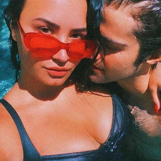 Demi Lovato Wears a One-Piece Swimsuit With Max Ehrich