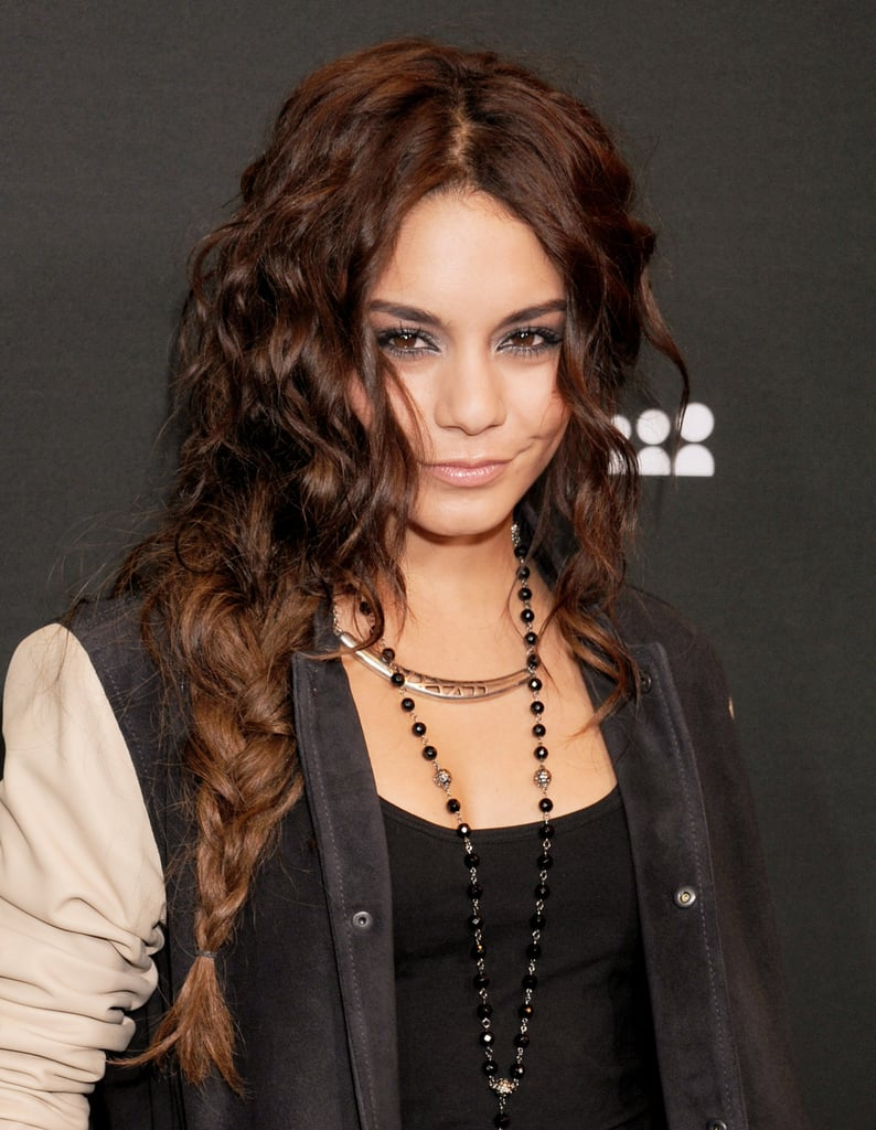 Vanessa Hudgens gave the side braid a turn with kinky curls that amped up the volume and texture.